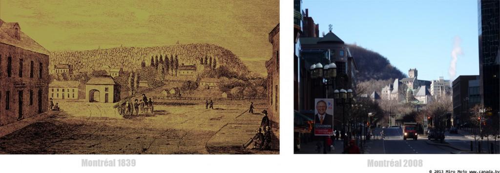 Проект Déjà vu: Улица McGill, ранее ул. Saint-Jacques, Montréal 1839