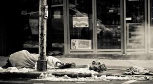 Бездомный на улице г. Торонто